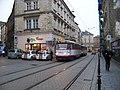 Olomouc, Denisova, u Univerzitní, tramvaj.jpg