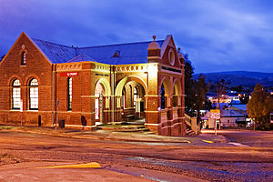 Omeo - The historic Omeo Post office by night
