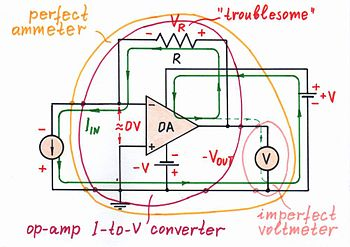Circuit Idea/Op-amp Inverting Current-to-Voltage Converter