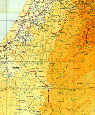 Operation Yoav - Villages and towns captured during Operation Yoav, October 1948.