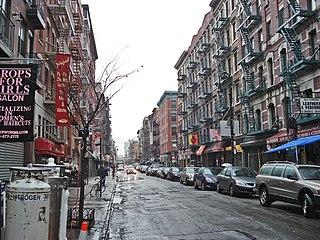 Orchard Street Street in Manhattan, New York