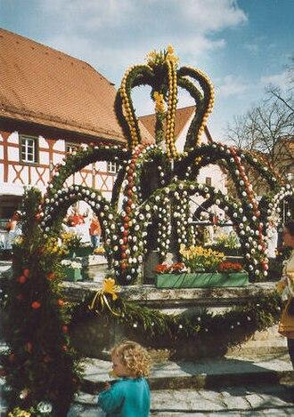 Easter traditions - Osterbrunnen in Heiligenstadt, Germany