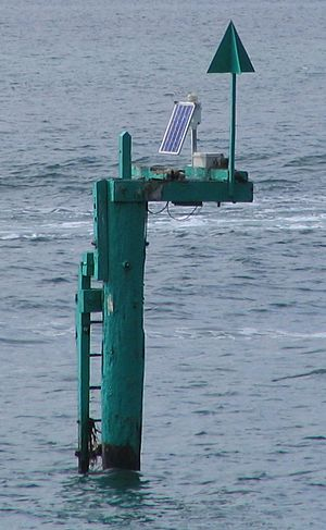 Solar power in New Zealand - Solar powered channel marker
