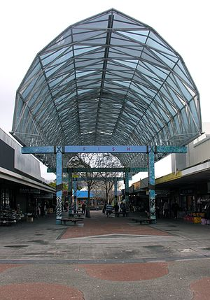 A part of the Otara town centre.