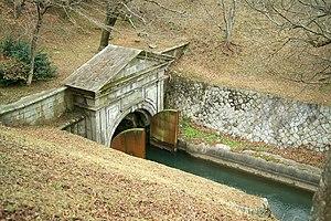 Lake Biwa Canal - Portal of a canal tunnel in Ōtsu