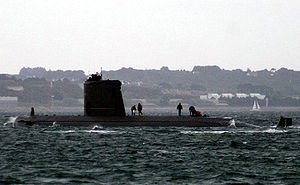 Agosta-class submarine - French submarine Ouessant at Brest in 2005