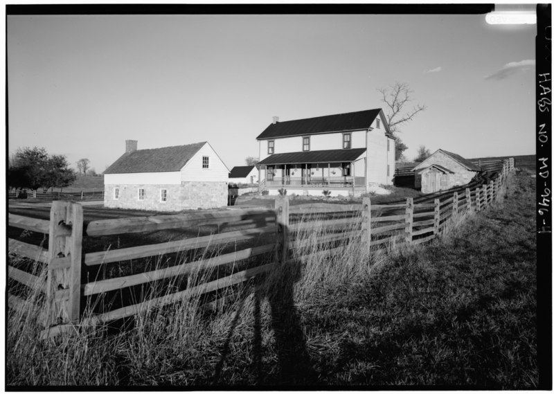 File:PERSPECTIVE VIEW OF WEST FRONT - Piper Farm, House, Sharpsburg, Washington County, MD HABS MD,22-SHARP.V,18-4.tif