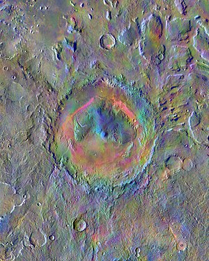 Aeolis Palus - Image: PIA19674 Mars Gale Crater Surface Materials 20150619
