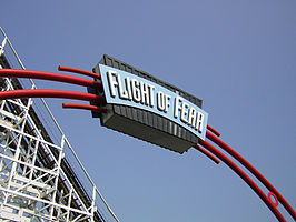 De ingang van Flight of Fear