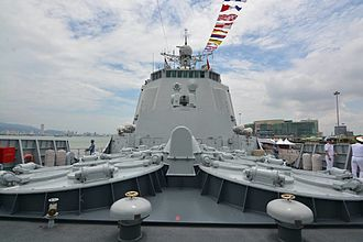 People's Liberation Army Navy - A Type 052C destroyer, Changchun, in Butterworth, Penang, Malaysia in 2017.