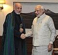 PM Modi and former Afghan President Hamid Karzai on 20 Nov 2014.jpg