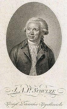 Johann Abraham Peter Schulz, Kupferstich von Friedrich Jügel (1794) (Quelle: Wikimedia)