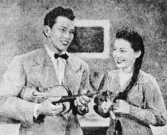 Malaysian pop - P. Ramlee and Kasma Booty, 1955.