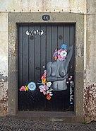 Painted door (Niu). Funchal, Madeira