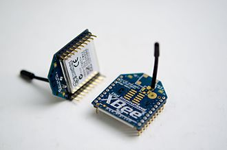 XBee - A pair of XBee radios (through-hole with the wire whip antenna type).
