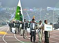 Pakistan players taking part in the ceremonial march pass, on the occasion of the 12th South Asian Games-2016, at Indira Gandhi Athletics Stadium, in Guwahati, Assam on February 05, 2016.jpg