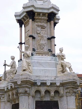 Basques - Monument to the Charters in Pamplona (1903)