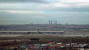 Paracuellos de Jarama - View of Madrid from Paracuellos.