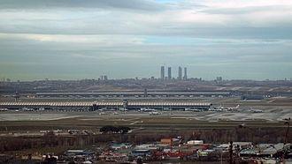 Paracuellos de Jarama - View of Madrid from Paracuellos.
