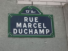 Paris 13e - rue Marcel-Duchamp - plaque.jpg