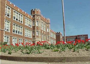 Parkersburg High School - Main Building at Parkersburg High School.
