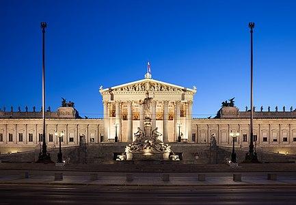 Austrian Parliament Building in Vienna, Austria