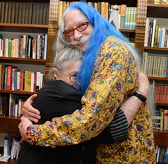 Patch Adams - Patch Adams with Nechama Rivlin in Award Ceremony of the Danielle Prize Healing with a Heart, April 2017