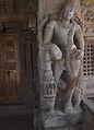 Pattadakal Virupaksa. North porch, entrance mandapa, right pillar.JPG