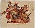 Paul-Aimé-Jacques Baudry - Études de cavaliers antiques, d'après Charles Le Brun - P1757 - Musée Carnavalet.jpg