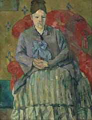 File:Paul Cézanne - Madame Cézanne in a Red Armchair ...