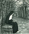 Paul Hoecker-Nonne im Laubgang-1897.jpg