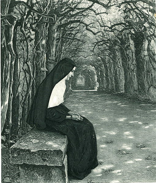 File:Paul Hoecker-Nonne im Laubgang-1897.jpg