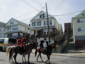 Winter Hill, Somerville, Massachusetts - Patriots' Day re-enactment of Paul Revere's Ride in Winter Hill in 2004