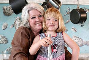 Paula Deen - Deen (left) in a public service announcement for Civitan International, 2006