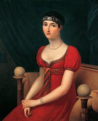 Pauline Bonaparte - Portrait by Kinson, 1808