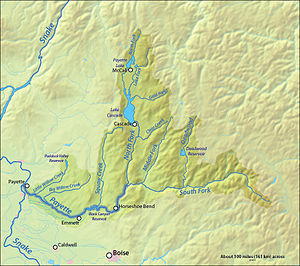 Payette River - Image: Payette River Map Final