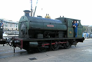 Peckett and Sons - A larger 0-6-0ST locomotive, Henbury of 1937 at the Bristol Industrial Museum