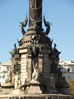 Columbus Monument, Barcelona - Pedestal of Columbus Monument