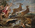 Peter Paul Rubens, Paul de Vos, Jan Wildens - Diana and Nymphs hunting deer.JPG
