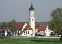 Horgau, view of St Martin's Parish Church from south-east.