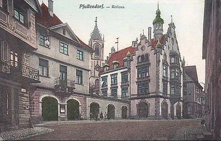 The Town Hall circa 1905 Pfullendorf Rathaus, circa 1905.jpg