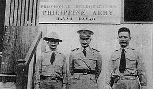 Military history of the Philippines during World War II - Philippine Commonwealth Army personnel in Davao
