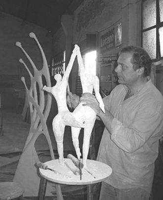 Alain-Marcel Linse - Linse in his workshop
