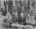 Photograph of Secretary of Commerce Henry Wallace with other dignitaries at the dedication of Franklin D. Roosevelt's... - NARA - 199363.tif