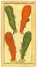 4 Di Bastoni.Carte Genovesi