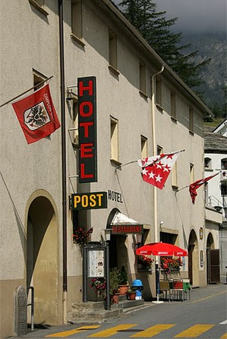 Simplon, Valais - Hotel Post in the village