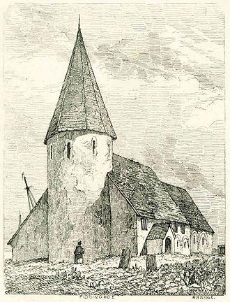 Piddinghoe - Piddinghoe Church in 1851