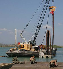 Pier construction Guantanamo Bay