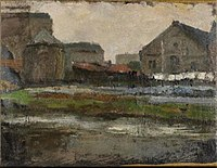 Piet Mondriaan - The Boerenwetering with shed of the royal wax candle factory - 0334244 - Kunstmuseum Den Haag.jpg