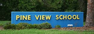 Pine View School - Pine View's entrance sign